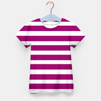 Thumbnail image of Designers t-shirt with Purple stripes MOROCCO, Live Heroes