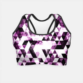 Triangle Geometric Vibrant Pink Smoky Galaxy Crop Top thumbnail image