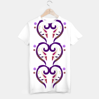 Thumbnail image of Designers t-shirt : Mysterious morocco Purple, Live Heroes