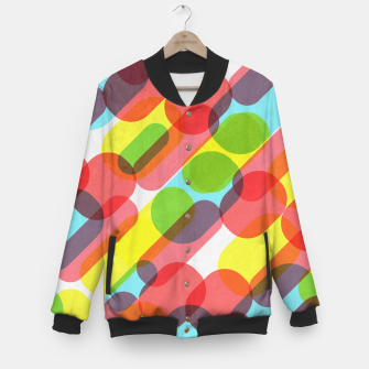 Miniaturka Bubble Burst Pattern Baseball Jacket, Live Heroes