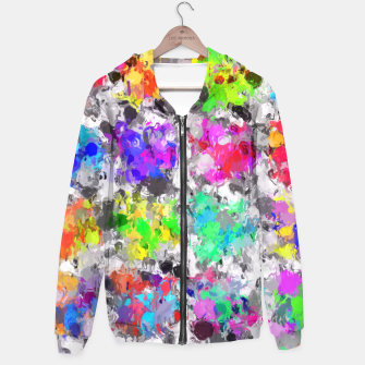 Miniaturka colorful psychedelic splash painting abstract texture in pink blue purple green yellow red orange Hoodie, Live Heroes