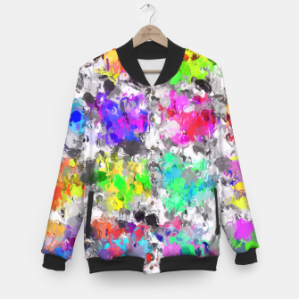 Miniaturka colorful psychedelic splash painting abstract texture in pink blue purple green yellow red orange Baseball Jacket, Live Heroes