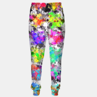 Imagen en miniatura de colorful psychedelic splash painting abstract texture in pink blue purple green yellow red orange Sweatpants, Live Heroes