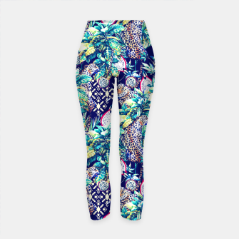 Tribal and leopards in the rainforest Leggings de yoga thumbnail image
