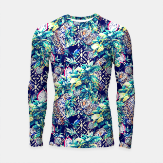 Tribal and leopards in the rainforest Longsleeve Rashguard thumbnail image
