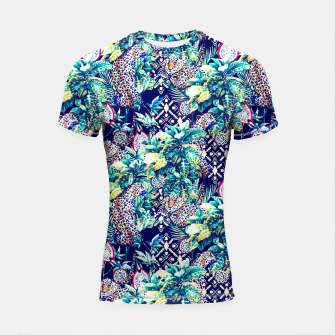 Tribal and leopards in the rainforest Shortsleeve Rashguard thumbnail image