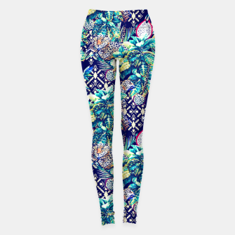Tribal and leopards in the rainforest Leggings thumbnail image