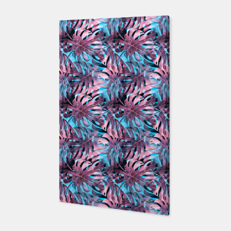 Thumbnail image of Pattern pink monstera Canvas, Live Heroes