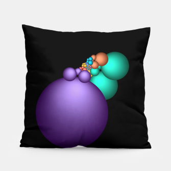 Thumbnail image of mini on black -5- Pillow, Live Heroes