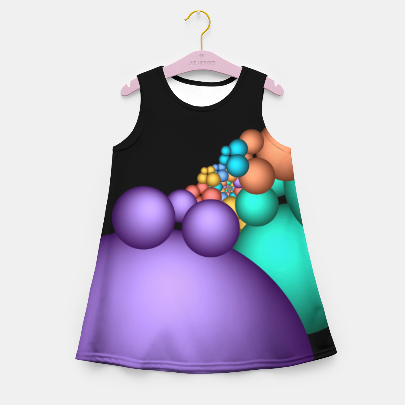 Image of mini on black -5- Girl's Summer Dress - Live Heroes