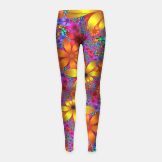 Thumbnail image of mini on black -2- Girl's Leggings, Live Heroes