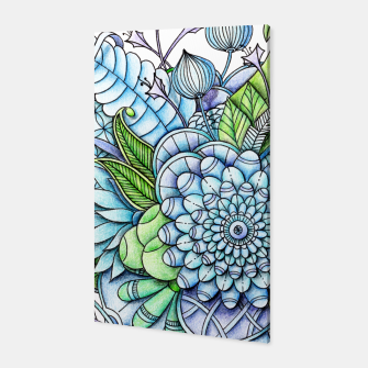 Thumbnail image of Blue Green Flower Garden Canvas, Live Heroes