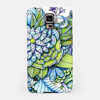 Thumbnail image of Blue Green Peaceful Flower Garden Samsung Case, Live Heroes