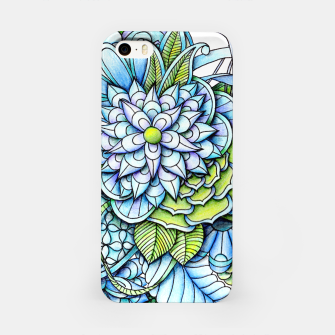 Thumbnail image of Blue Green Peaceful Flower Garden iPhone Case, Live Heroes