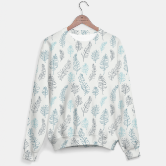 Thumbnail image of Whimsical grey leaf / feather pattern Sweater, Live Heroes