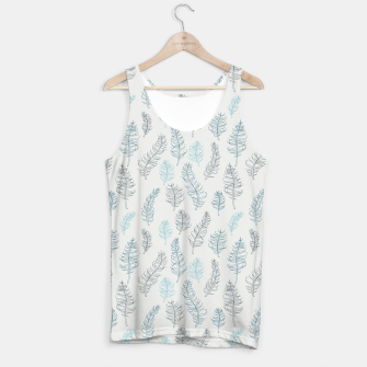 Thumbnail image of Whimsical grey leaf / feather pattern Tank Top, Live Heroes