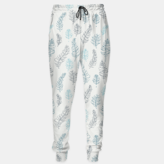 Imagen en miniatura de Whimsical grey leaf / feather pattern Sweatpants, Live Heroes
