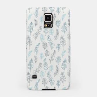 Thumbnail image of Whimsical grey leaf / feather pattern Samsung Case, Live Heroes