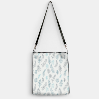 Thumbnail image of Whimsical grey leaf / feather pattern Handbag, Live Heroes