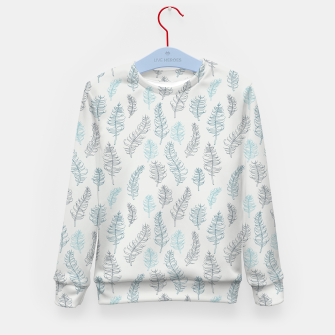 Thumbnail image of Whimsical grey leaf / feather pattern Kid's Sweater, Live Heroes