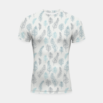 Thumbnail image of Whimsical grey leaf / feather pattern Shortsleeve Rashguard, Live Heroes