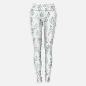 Thumbnail image of Whimsical grey leaf / feather pattern Leggings, Live Heroes