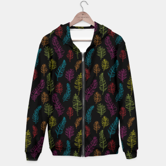 Thumbnail image of Bright colors on black whimsical feathers Hoodie, Live Heroes
