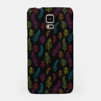 Thumbnail image of Bright colors on black whimsical feathers Samsung Case, Live Heroes