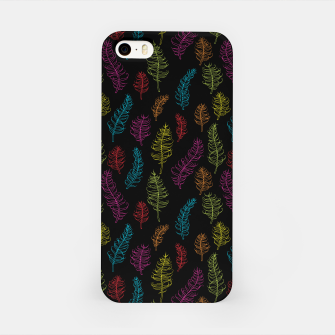 Thumbnail image of Bright colors on black whimsical feathers iPhone Case, Live Heroes