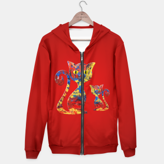 Imagen en miniatura de Abstract Cat Hoodie, Live Heroes