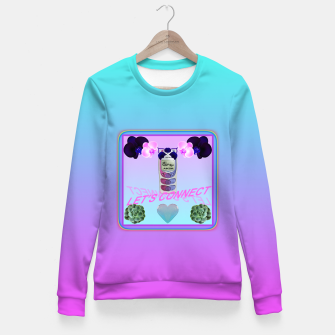 Thumbnail image of LET'S CONNECT Fitted Waist Sweater, Live Heroes