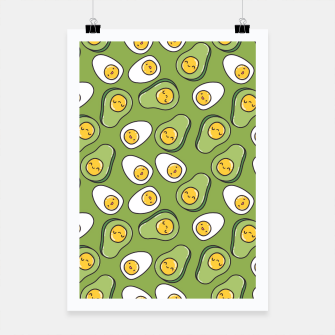 Thumbnail image of Avocado Egg Poster, Live Heroes
