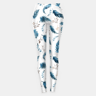 Miniatur Feathers and dried flowers Leggings, Live Heroes