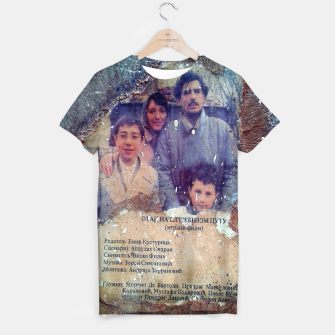 Thumbnail image of collage When Father Was Away on Business T-shirt, Live Heroes