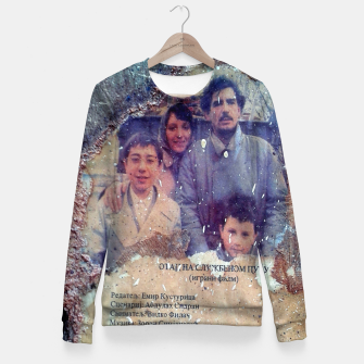 Thumbnail image of collage When Father Was Away on Business Fitted Waist Sweater, Live Heroes