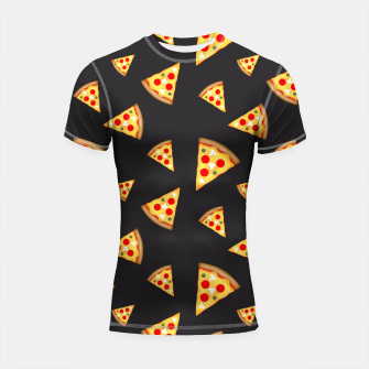 Cool and fun pizza slices pattern Shortsleeve Rashguard thumbnail image