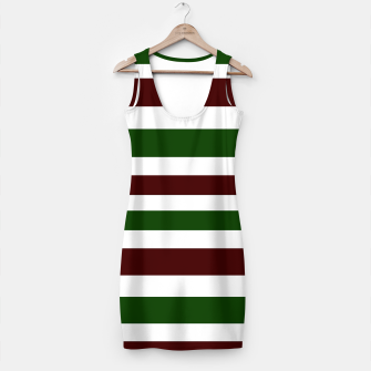 Thumbnail image of Artistic Minidress : green, brown with white, Live Heroes