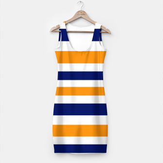 Thumbnail image of Simple artistic Dress with VINTAGE Stripes, Live Heroes