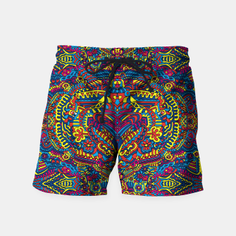Thumbnail image of Groovy ZenDoodle Art Swim Shorts, Live Heroes