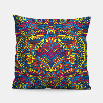 Thumbnail image of Groovy ZenDoodle Art Pillow, Live Heroes