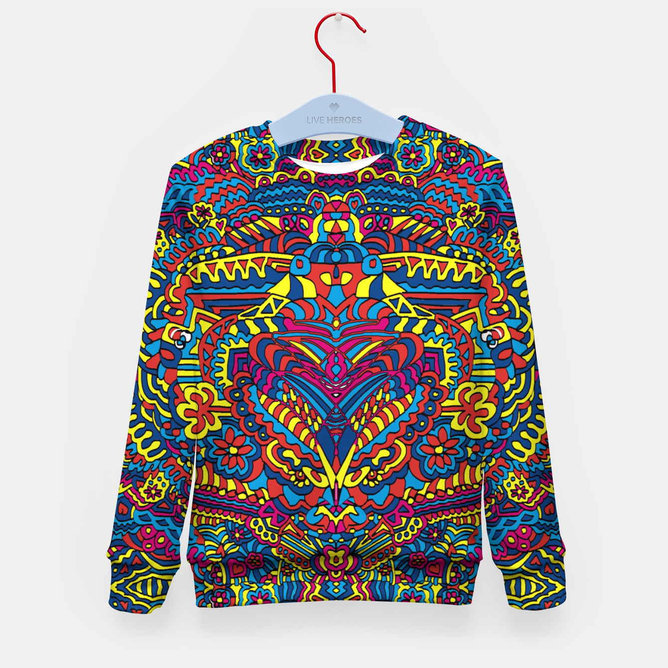 Image of Groovy ZenDoodle Art Kid's Sweater - Live Heroes