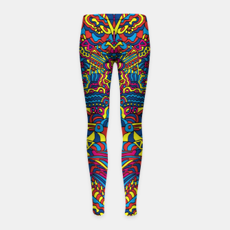 Thumbnail image of Groovy ZenDoodle Art Girl's Leggings, Live Heroes