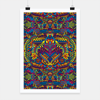 Thumbnail image of Groovy ZenDoodle Art Poster, Live Heroes