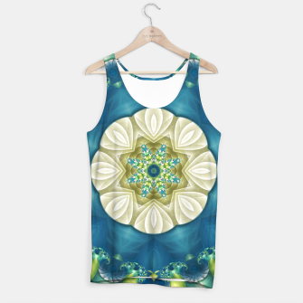Thumbnail image of Poseidon's Rest Mandala in Turquoise and Ivory Tank Top, Live Heroes