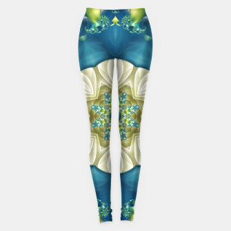 Thumbnail image of Poseidon's Rest Mandala in Turquoise and Ivory Leggings, Live Heroes