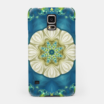 Thumbnail image of Poseidon's Rest Mandala in Turquoise and Ivory Samsung Case, Live Heroes