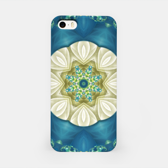 Thumbnail image of Poseidon's Rest Mandala in Turquoise and Ivory iPhone Case, Live Heroes