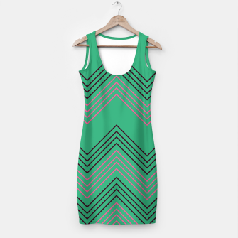 Thumbnail image of Simple artistic Minidress green with Stripes, Live Heroes