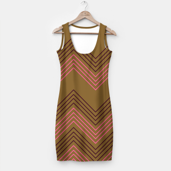 Thumbnail image of Simple artistic Dress brown with Stripes, Live Heroes
