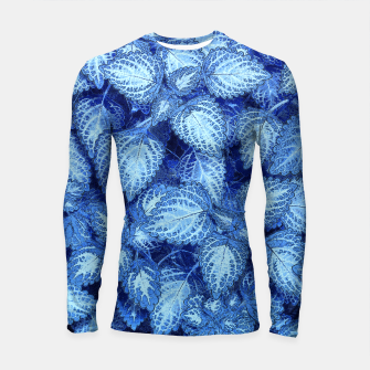 Lovely Leaves, in Blue Longsleeve Rashguard  thumbnail image
